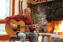 Paul - Guitar.JPG Royalty Free Stock Photo