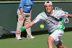 Paul-Henri Mathieu at the 2010 BNP Paribas Open Stock Photo