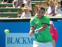 Paul-Henri Mathieu of France at Kooyong Tennis Club Stock Photo