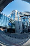 Paul Henri Spaak Building and European parliament Stock Photography