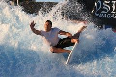 Paul-Hinterwelle in San Diego Wavehouse 2 Lizenzfreie Stockfotografie