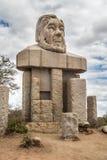 Paul Kruger staty på den Kruger nationalparken Fotografering för Bildbyråer