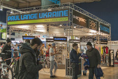 Paul Lange Ukraine booth at Bike trade show Stock Photography