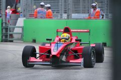 Paul Lau at Formula BMW Pacific race Stock Photography