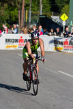 Paul Lee in the Coeur d' Alene Ironman cycling event Stock Photography