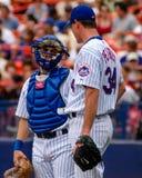 Paul LoDuca y Mike Pelfrey New York Mets Imagen de archivo libre de regalías