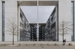 Paul Loebe Haus  Parliamentary Office Building in Berlin with to Royalty Free Stock Images