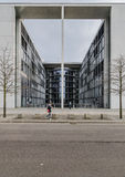 Paul Loebe Haus  Parliamentary Office Building in Berlin with to Royalty Free Stock Image