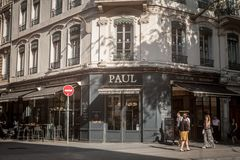 Free Paul Logo In Front Of Their Local Bakery In Downtown Lyon. Paul Boulangeries Is A French Chain Of Bakeries And CoffeeS Royalty Free Stock Photo - 154080975