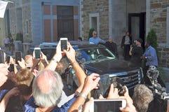 Paul McCartney που αφήνει το ξενοδοχείο στο Κεμπέκ, Καναδάς στοκ εικόνες