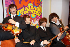 The Beatles. London, - United Kingdom, 08, July 2014. Madame Tussauds in London.  Waxwork statue of the Beatles. Created by Madam Tussauds in 1884, Madam Royalty Free Stock Photos