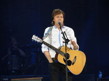 Paul McCartney levend in Wenen 2013 Royalty-vrije Stock Foto's