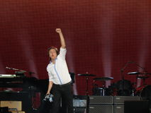 Paul McCartney live in Vienna 2013 Royalty Free Stock Photo