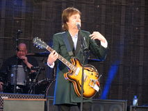 Paul McCartney live in Vienna 2013 Royalty Free Stock Photos