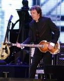 Paul McCartney presteert in overleg royalty-vrije stock afbeelding