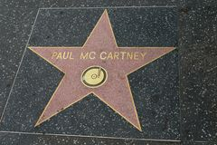 Paul Mccartney star on the Hollywood Walk of Fame Royalty Free Stock Photography