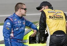 Paul Menard talks with Ricky Stenhouse Jr. Royalty Free Stock Photography