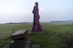 Paul Mueller-Kaempff Statue near Ahrenshoop Stock Photo