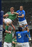 Paul O'Connell, Irland V Italien, 6 Nation-Rugby Lizenzfreie Stockfotografie
