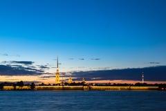 Paul och Peter fästning i St Petersburg Arkivfoton