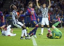 Paul Pogba and Gerard Pique Royalty Free Stock Photo