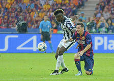 Paul Pogba and Lionel Messi Royalty Free Stock Photography