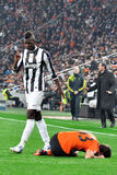 Paul Pogba near Dario Srna Stock Photo