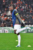 Paul Pogba warms-up Royalty Free Stock Photography