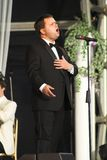 Paul Potts. First performance live at Margam Country Park in Neath since winning TV's Britains Got Talant competition. 2007 Royalty Free Stock Images