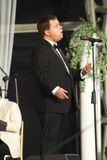 Paul Potts. First performance live at Margam Country Park in Neath since winning TV's Britains Got Talant competition. 2007 Stock Photo