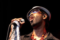 Paul Randolph. Jazzanova Live! featuring Singer Paul Randolph in concert at Kulturarena, Jena, Germany on 2009-08-14 Royalty Free Stock Photos