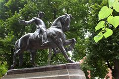 Paul Revere Monument, Boston stock photos