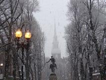 Paul Revere Monument gammal nordkyrka, Boston arkivbild