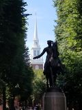 Paul Revere with Old North Church Stock Photography