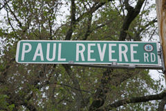 Paul Revere Road Stock Photo