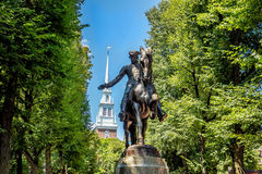 Paul Revere Statue a Boston, Massachusetts Fotografie Stock Libere da Diritti