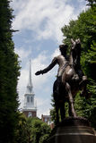 Paul Revere Statue i Boston, Massachusetts Royaltyfri Foto