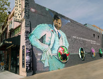 Paul Robeson Mural In Washington DC Royaltyfria Bilder