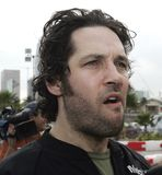 5th Annual Celebrity Cadillac Super Bowl Grand Prix. Paul Rudd participates in the 5th annual celebrity Cadillac Super Bowl Grand Prix at the American Airlines royalty free stock photo