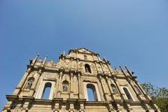 paul rujnuje s st Macau Zdjęcia Royalty Free