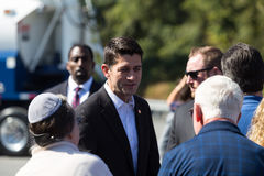 Paul Ryan Campaigning royalty-vrije stock afbeelding