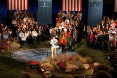Paul Ryan en el podium, reunión de Romney Imágenes de archivo libres de regalías