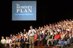 Paul Ryan Rally στις ειδήσεις Newport, Βιρτζίνια Στοκ Εικόνα