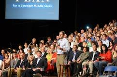 Paul Ryan Rally in het Nieuws van Nieuwpoort, Virginia Stock Afbeelding