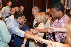 Paul Ryan Rally in het Nieuws van Nieuwpoort, Virginia Royalty-vrije Stock Foto's