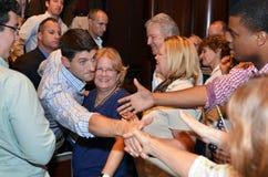 Paul Ryan Rally in het Nieuws van Nieuwpoort, Virginia Stock Afbeeldingen
