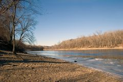 Paul rzeki Mississippi na st northward w kierunku Obraz Royalty Free