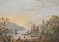 Paul Sandby - Dartmouth Castle Royalty Free Stock Images