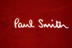 Paul Smith inscription Royalty Free Stock Photo