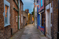 Paul Street in Frome. Nighttime at Paul Street on Catherine Hill at Frome in Somerset Royalty Free Stock Image